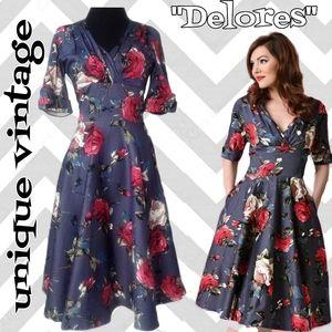 1950s style swing dress